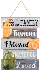 Bless Our Family Hanging Wall Plaque