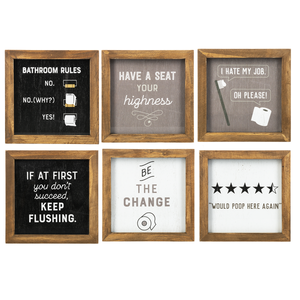 Potty Talk Framed Plaques