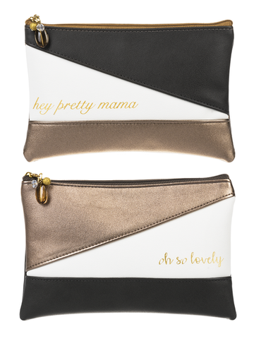 Hey Pretty Mama Cosmetic Bags