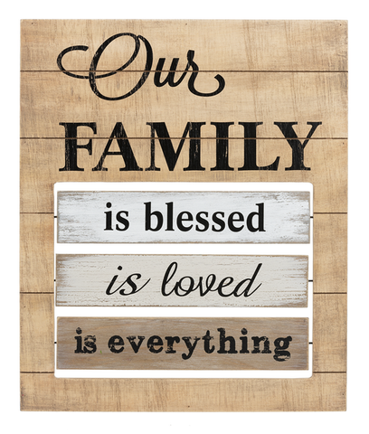 Our Family Message changing Sign