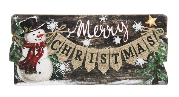 Merry Christmas Light Up Plaque