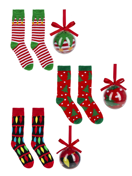 Missile Toe Socks in Ornament