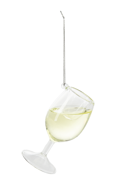 Cheer Donnay Wine Glass Ornament