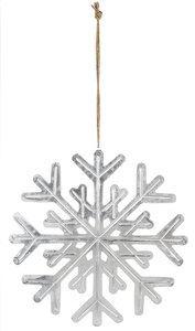 Large Iron Snowflake Ornament