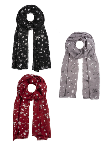 Metallic Snowflake Scarves