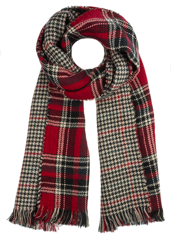 Double Layer Christmas Plaid Scarf
