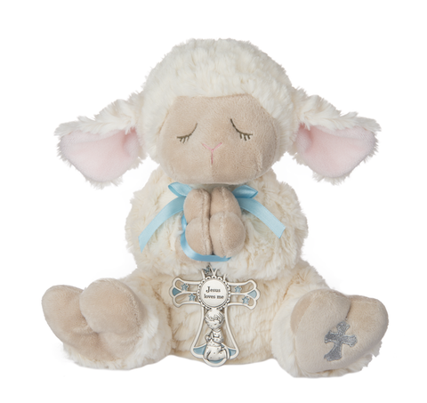 Serenity Lamb w/ Crib Cross - Boy