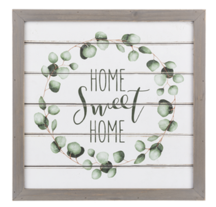 Home Wreath Wall Plaque