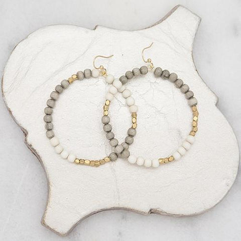 Gray/White Combo Hopscotch Earrings