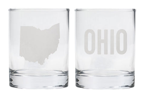 Ohio Rock Glass Set