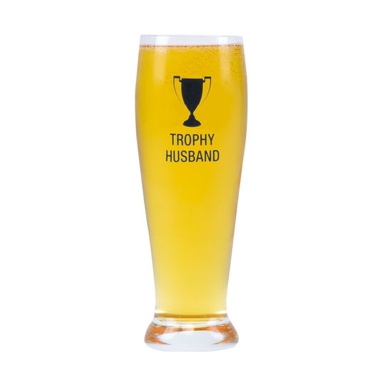 Trophy Husband Pilsner Glass