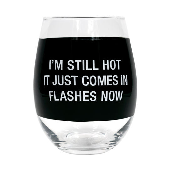 Comes In Flashes Wine Glass