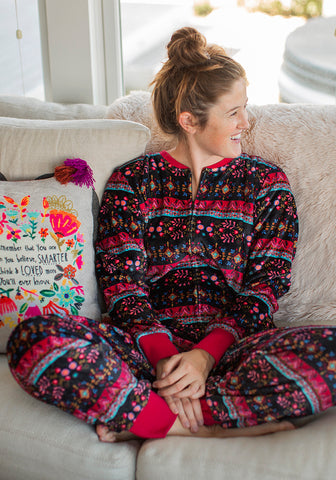 Natural Life Fleece Onesie Black