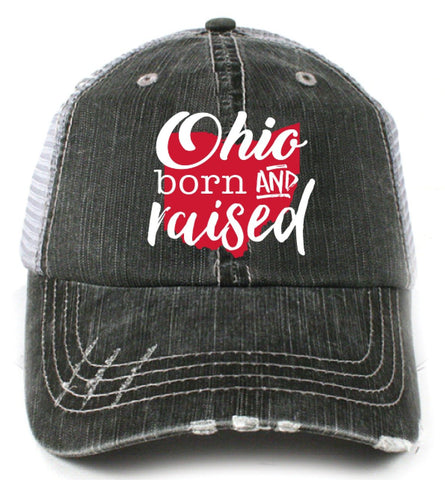 Katydid Ohio Born and Raised Trucker Hat