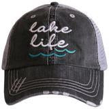 Katydid Lake Life (WAVES) Women's Trucker Hat