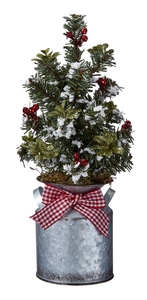 Milkcan Evergreen Arrangement
