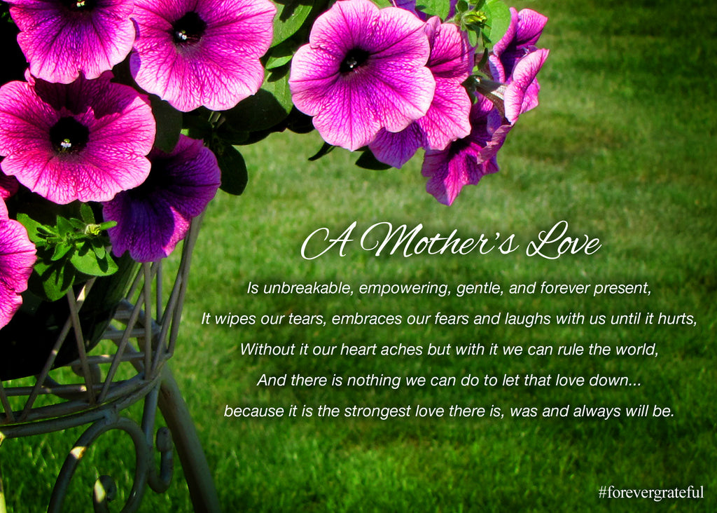 "Forever Grateful Greeting Card ""A Mother's Love"""