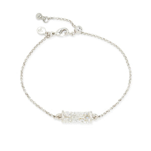 Luca + Danni Druzy Tube Slider Bracelet in Moonlight