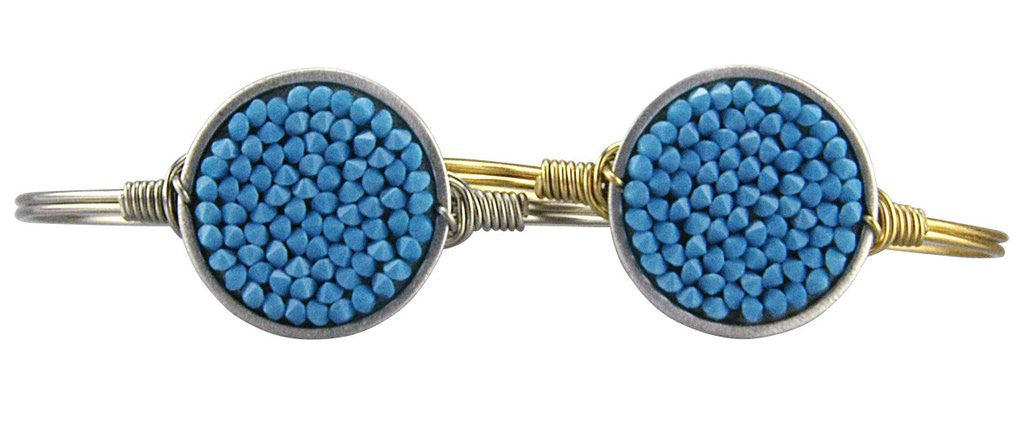 Luca + Danni Druzy Turquoise Bangle