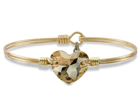 Luca + Danni Champagne Mother's Day Heart Bangle Bracelet (Limited Edition)