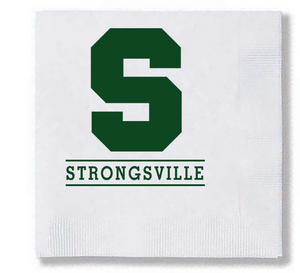 Strongsville 2-Ply Beverage Napkins / 25 pcs/pk