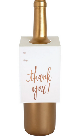 Thank You Script Wine & Spirit Tag