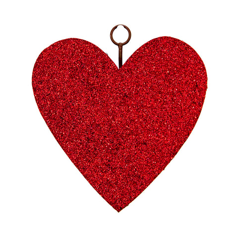 RTC Red Glitter Heart Charm