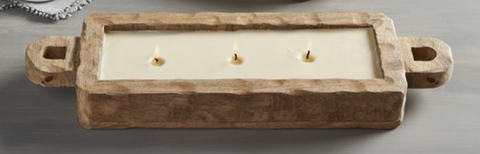 Mango Wood Tray Candles