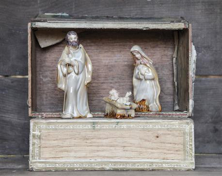 Creative Coop Stoneware Holy Family
