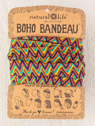 Multi Colored Zigzag BOHO Bandeau