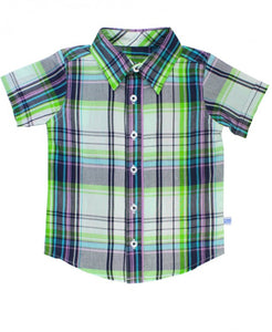 Christopher Plaid Short Sleeve Button Down
