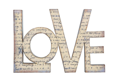 """Love"" Shaped Wall Decor"