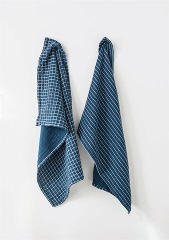 Blue Cotton Tea Towel