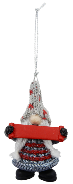 Red Dot Hat Gnome Ornament