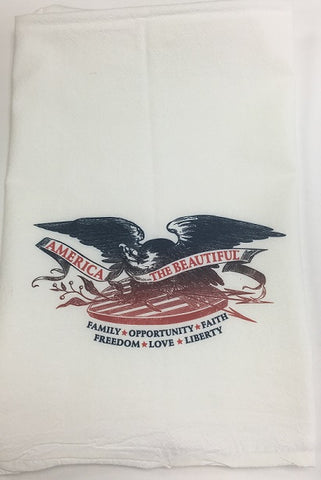 America The Beautiful T-Towel