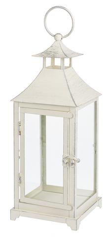 Antique White Metal Lantern