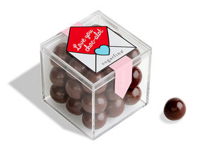 """Love you Choc-alot"" Dark Chocolate Sea Salt Caramels"