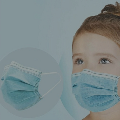Disposable 3-Ply Protective Kids Face Mask with Earloops