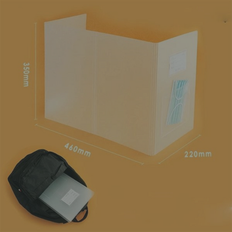 Foldable Protective Shield Isolation Board with Mask pocket