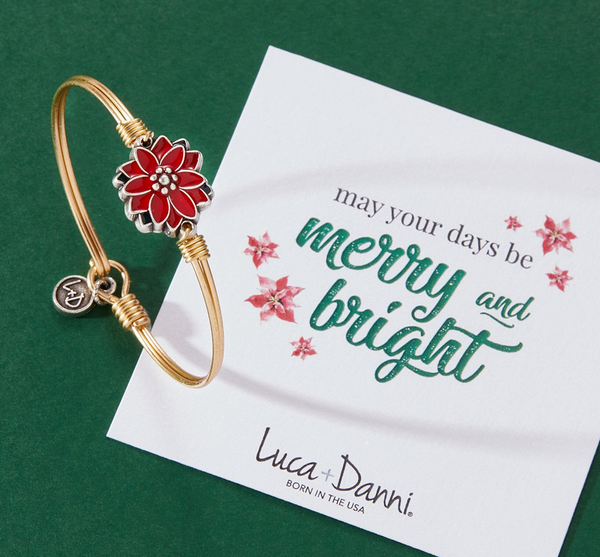 Luca + Danni Poinsettia Bangle Bracelet