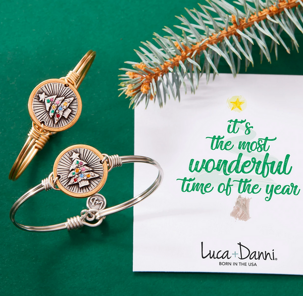 Luca + Danni Holiday Tree Bangle Bracelet
