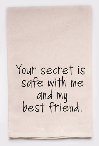 Secret Safe with me and my Best Friend Tea Towel