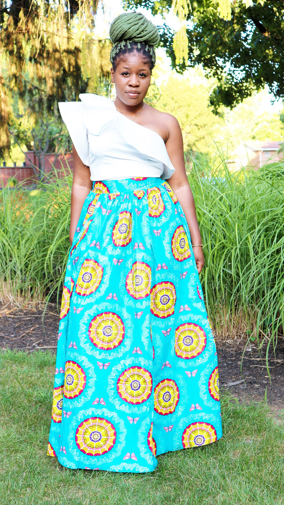 African Print Maxi Skirt (End Of Season Clearance) - Nkeoma