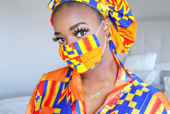African Print Reusable Mask - Nkeoma
