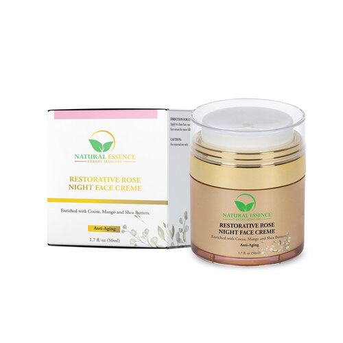 Natural Essence Skincare RESTORATIVE ROSE NIGHT FACE CREME - Nkeoma By Ivy & Livy
