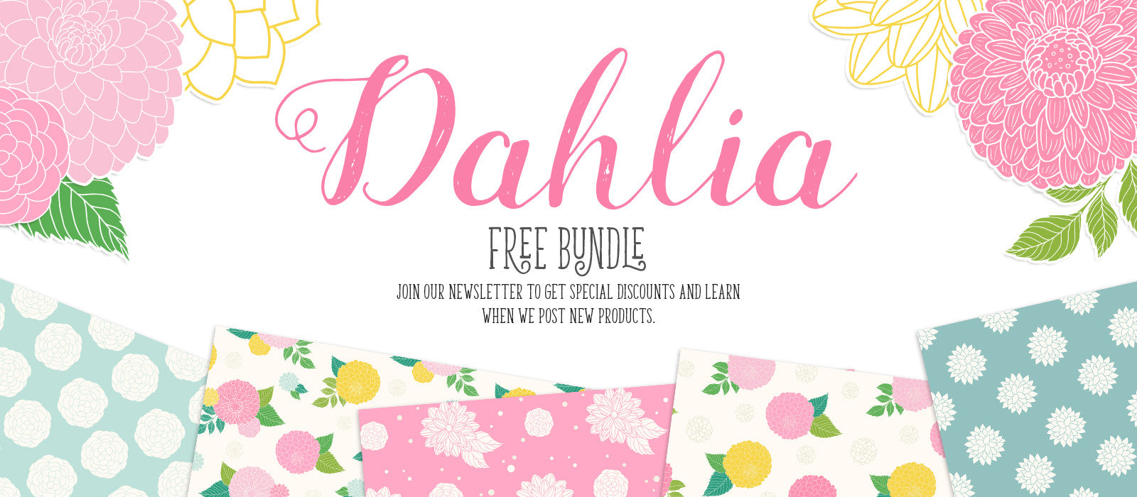 Free Floral Cliparts and Patterns Bundle