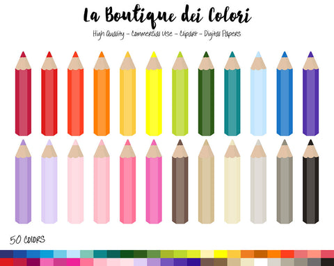 Coloring Pencil Planner Clipart