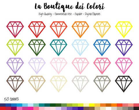 Diamond Outline Planner Clipart