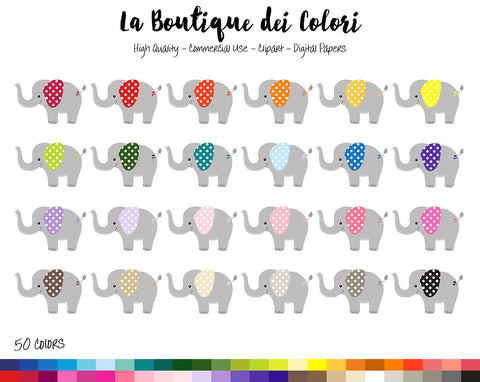 Baby Elephant Planner Clipart