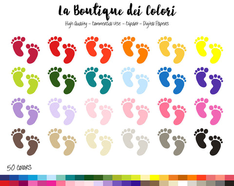 Baby Footprints Planner Clipart